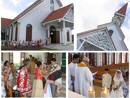 タヒチ サクレカー(アルエ)教会